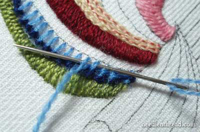 Crewel Embroidery: Rooster's Tail