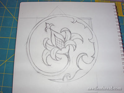 Sketch up for Hand Embroidery Pattern