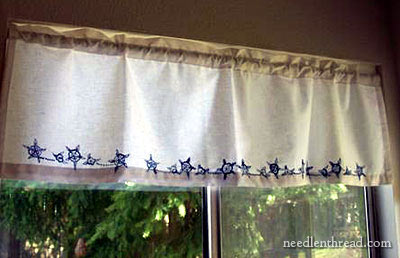 Hand Embroidery on Valance
