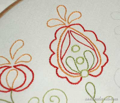 Hand Embroidered Flour Sack Towels for Christmas Presents, 2008