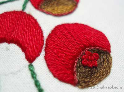Satin Stitch on Hand Embroidered Towels