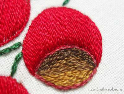 Satin Stitch in stranded cotton