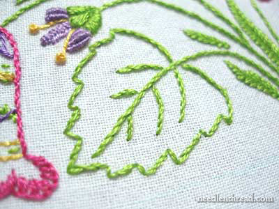 Embroidered Towel for a Basket Liner for Easter