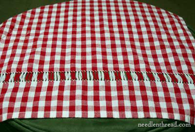 Drawn Thread on Gingham
