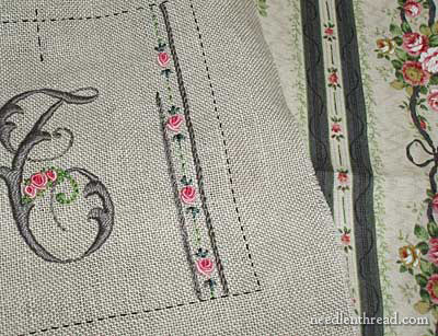 Embroidered Needlebook Progress