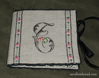 Hand Embroidered Needlebook, Finished
