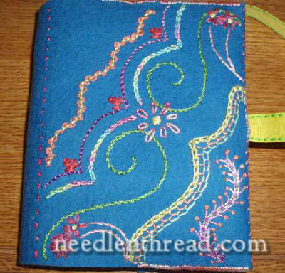 embroidered book cover