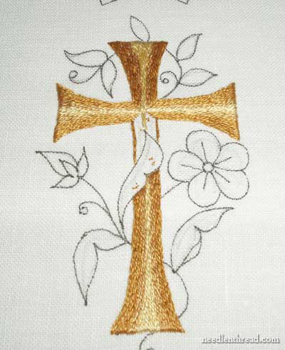 Emma's Embroidered Prayerbook Cover