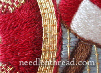 goldwork couched with silk - difficult area