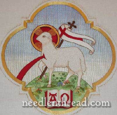 Hand Embroidered Agnus Dei - completed project