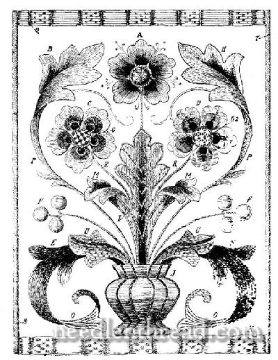 Embroidery Pattern of Sampler for Silk Shading Techniques