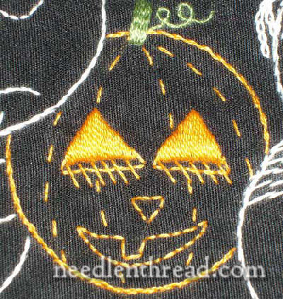 little embroidered jack-o-lantern