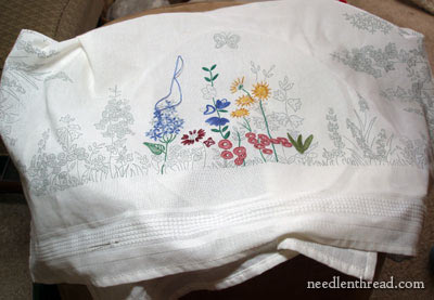 Anchor Embroidery Kit: Spring Tea Cloth - a Project Shelved