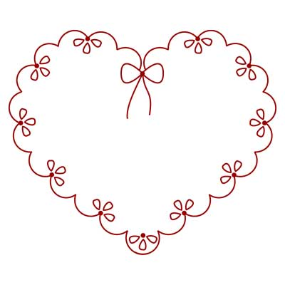 Love Heart Pictures Free on Free Hand Embroidery Pattern  Valentine      Needle   Nthread Com