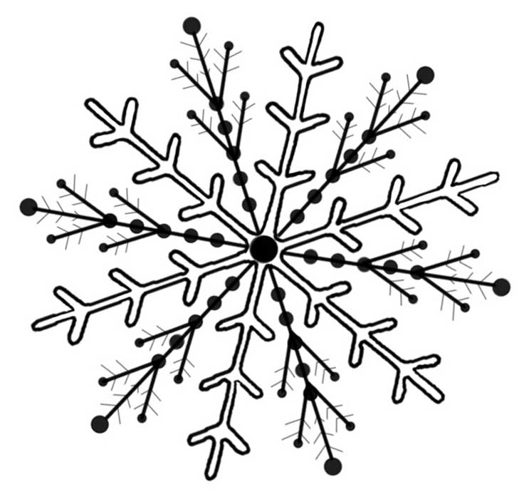 Snowflake Pattern for Hand Embroidery