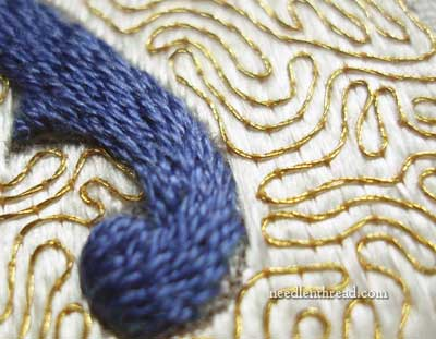 Couching in Hand Embroidery