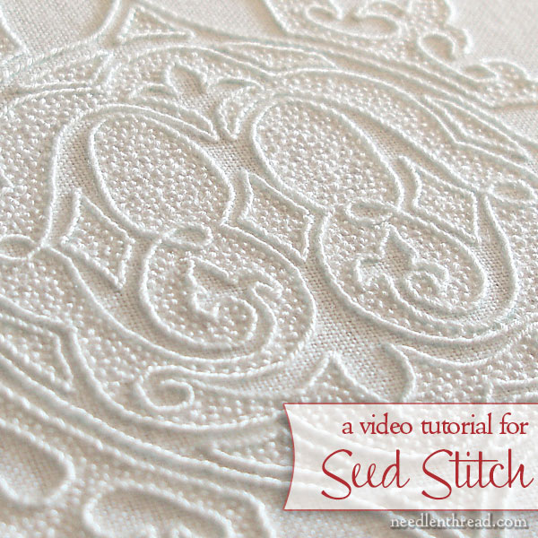 Video Tutorial for Seed Stitch in embroidery