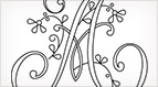 Monograms for Hand Embroidery - Delicate Spray