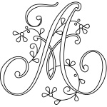 Monogram Alphabet for Hand Embroidery - Delicate Spray
