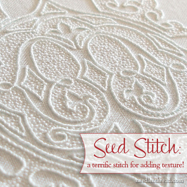 Seed Stitch on Hand Embroidered Pall