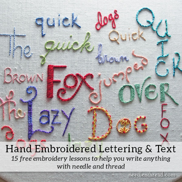 Hand Embroidery: Lettering and Text Index