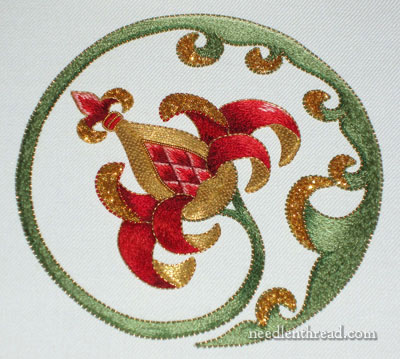 Goldwork Embroidery Project on Needle 'n Thread