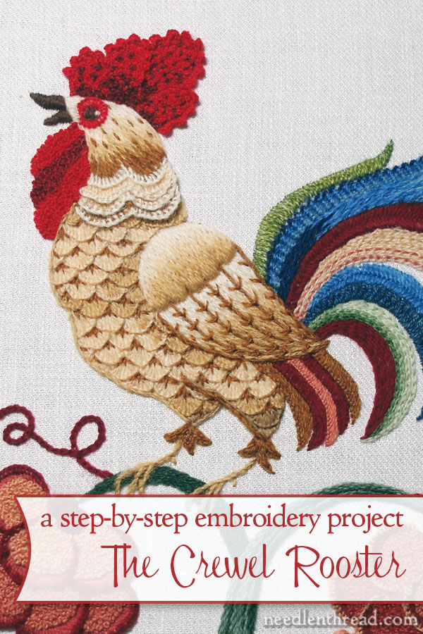 Crewel Embroidery: The Crewel Rooster