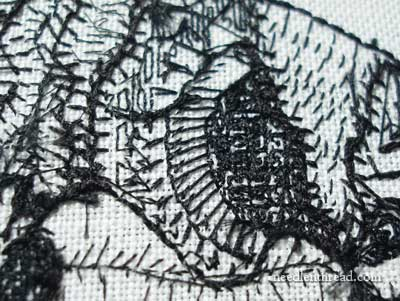 Blackwork Embroidery: The Backside of the Fish