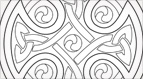 Free Hand Embroidery Pattern: Celtic Cross