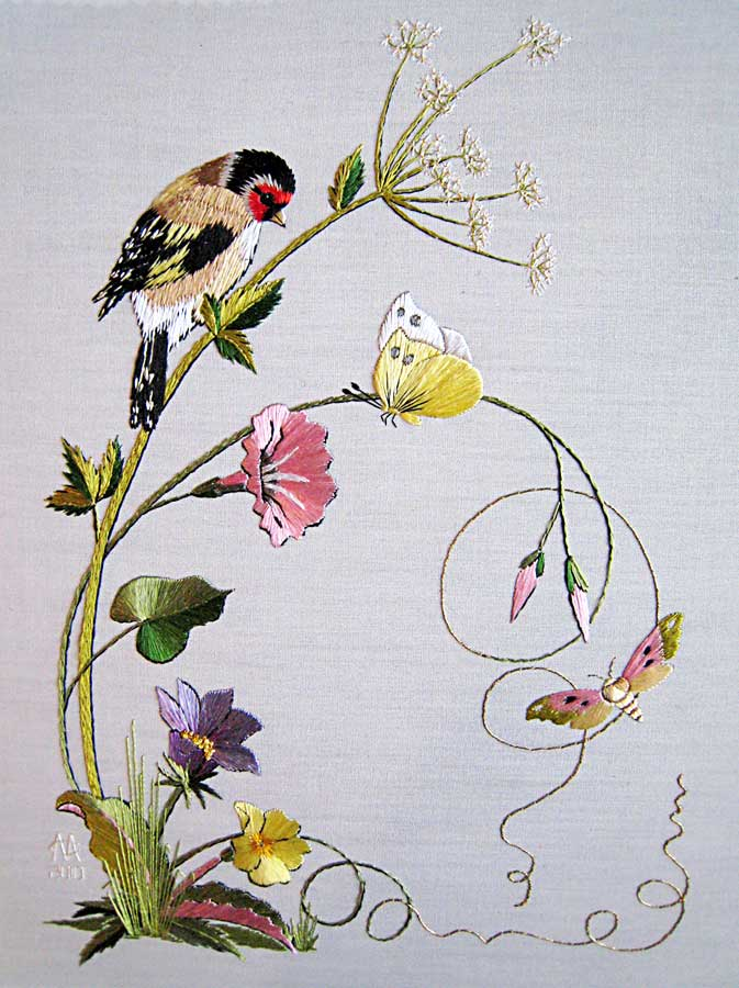 A beautiful embroidery treat for Hand thread painting tutorial