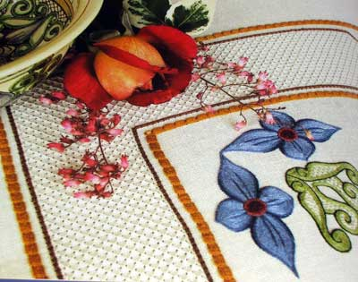 Estense Embroidery: Italian Needlework inspired by Italian Ceramics