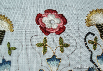 Embroidered Rose: Before and After