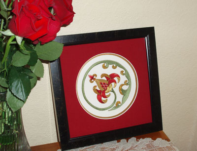 Goldwork Pomegranate Framed