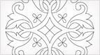 Free Hand Embroidery Design: Motif Suitable for Goldwork