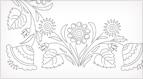 Free Hand Embroidery Design: Spring Garden Corner