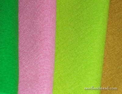 Wool Felt for Hand Embroidery