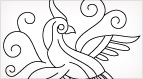 Little Bird of Paradise Embroidery Design