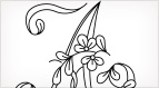 Monograms for Hand Embroidery - Floral Script