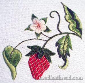 Stumpwork Embroidery - Strawberry