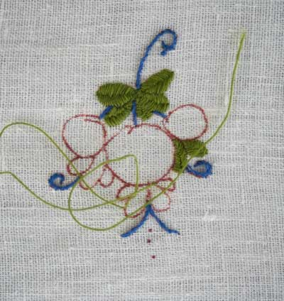 Hand Embroidery Sampler Inspired by Italian Pottery