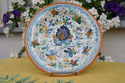 Italian Pottery Inspires Hand Embroidery Designs