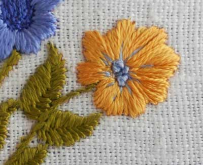 Hand Embroidery Inspired by Italian Pottery