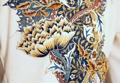 William Morris design in embroidery