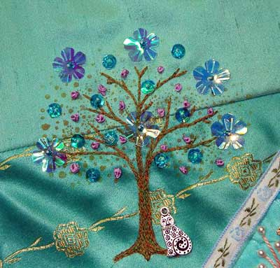 Hand Embroidered Trees