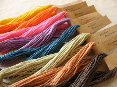 Naturally Dyed Embroidery Threads
