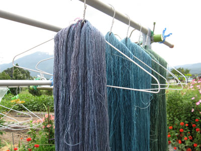 Indigo-dyed Silk Yarn: Natural Dyed Embroidery Threads