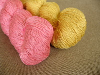 Safflower-Dyed Silk Yarn: Natural Dyed Embroidery Threads