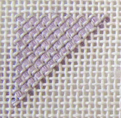 Canvaswork or Needlepoint: Various Stitches and Threads