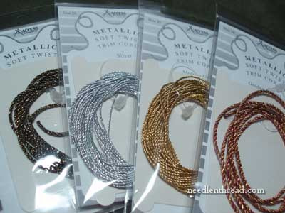 Soft Metallic Twist Trim for Needlework Projects