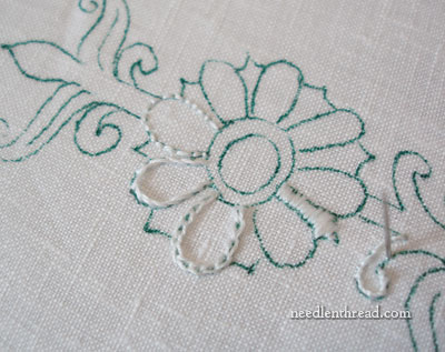 Embroidery Transfer with Paper Mate Flair